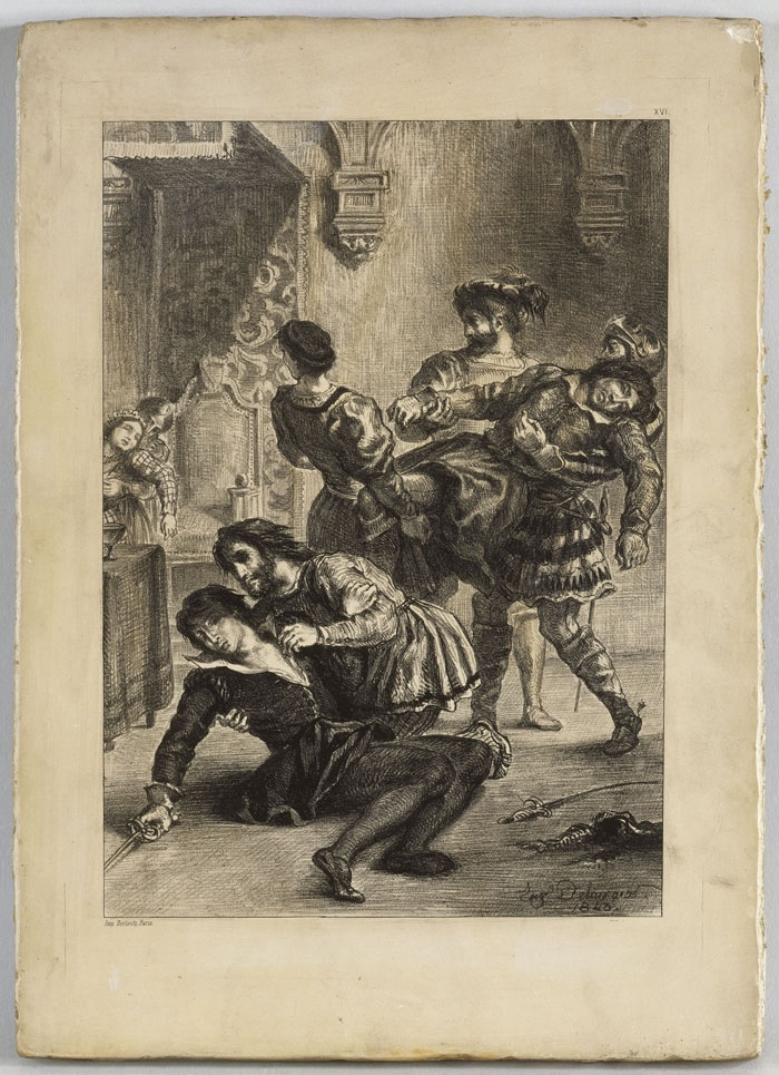Delacroix, Shakespeare, the death of Hamlet, lithograph on stone
