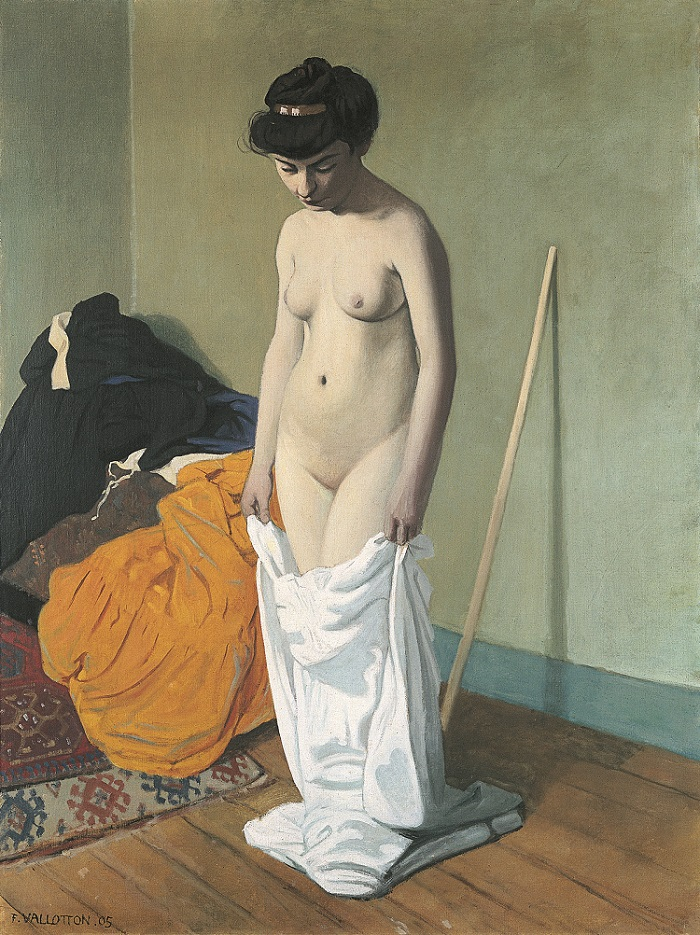 valllotton Nude Holding Her Gown, 1904 small